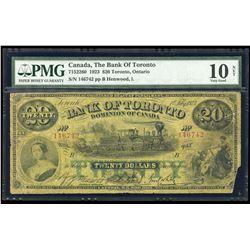 Bank of Toronto $20, 1923