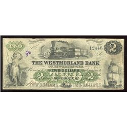 The Westmorland Bank $2, 1861