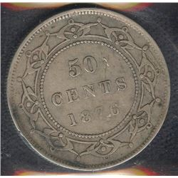 1876H Newfoundland Fifty Cents