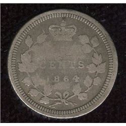 1864 New Brunswick Five Cents