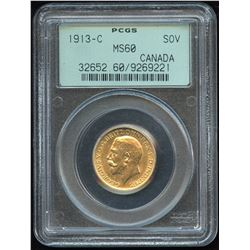 1913c Canadian Gold Sovereign
