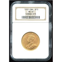 1912 Canadian $10 Gold