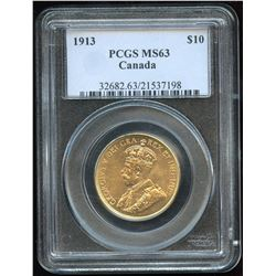 1913 Canadian $10 Gold