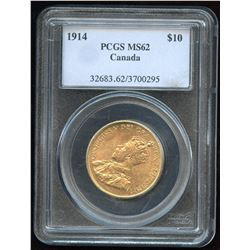 1914 Canadian $10 Gold