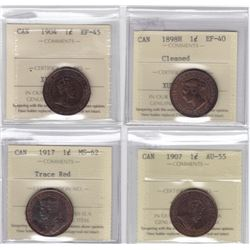 Large Cent ICCS Group - Lot of 4