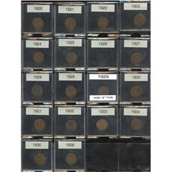 Canadian Small Cent Collection