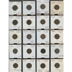 Canadian One Cent Collection with Duplication