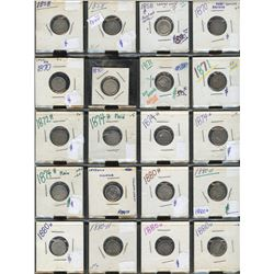 Canada Five Cents - Lot of 111