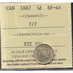1887 Five Cents - 7/7