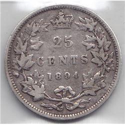 1894H Twenty-Five Cents