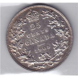 1908 Twenty-Five Cents