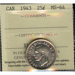 1943 Twenty-Five Cents