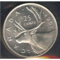 1951 Twenty-Five Cents