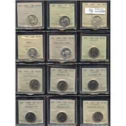 Collection of ICCS Graded Twenty Five Cents