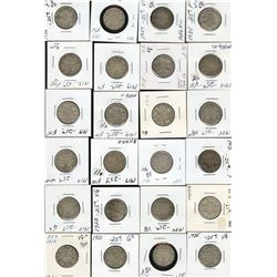 Dealer lot: George V Twenty-Five Cents - Lot of 36