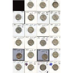 Deal lot: George VI Twenty-Five Cents - Lot of 23