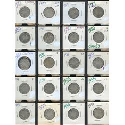 Canada Twenty-Five Cents - Lot of 37