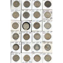 Dealer lot of Silver 50c, 1938-1963 - Lot of 25