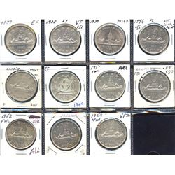 George VI Silver Dollar short set - Lot of 11