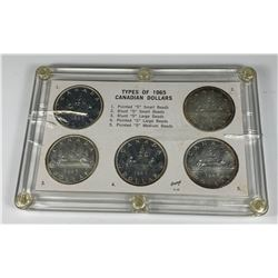 1965 Silver Dollar - All Five Types