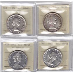 Silver Dollar ICCS Group - Lot of 4