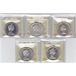 Silver Dollar ICCS Group - Lot of 5