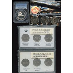 Canada Silver and Nickel Dollar Collection