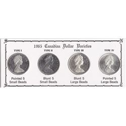 1965 Canadian Silver Dollar Varieties Collection in Presentation Board.
