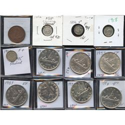 Canada Decimal - Lot of 12 Cleaned Coins
