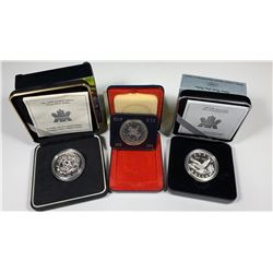 Canadian Silver Dollars - Limited Edition Lot of 3