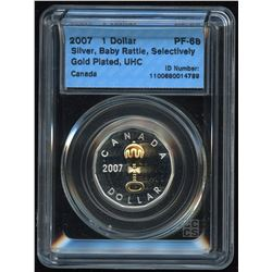 2007 Proof Gold Plated Baby Rattle