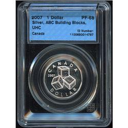 2007 Building Blocks Silver Dollar - Rare