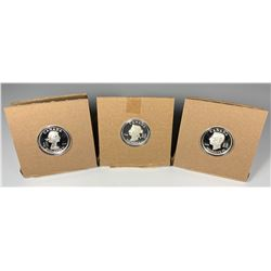 2008/2009 Vignettes of Royalty Series, $15 Sterling Silver Lot of 3 Coins