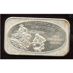 1973 California Gold Discovery 1oz Silver Art Bar