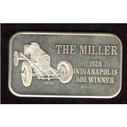 1974 Indianapolis 500 Winner (The Miller) Fine Silver Art Bar - Mark IV