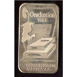 1984 Graduation National 1oz Silver Art Bar (TAX Exempt)