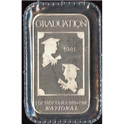 1985 Graduation National 1oz Silver Art Bar (TAX Exempt)
