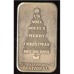 1985 Merry Christmas 1oz Silver Art Bar (Tax Exempt)