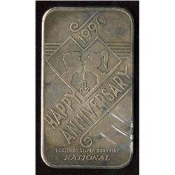 1990 Happy Anniversary 1oz silver Art Bar (TAX Exempt)