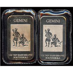 Gemini 1oz Fine Silver National Art Bar (Tax Exempt)