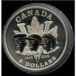 2005 Silver Maple Leaf 60th Anniversary of the Second World War - Special Privy