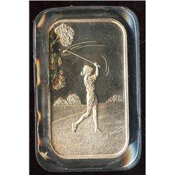 Golf 1oz Silver Art Bar