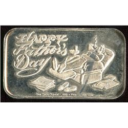 Happy Father's Day Silver Art Bar (Tax Exempt)