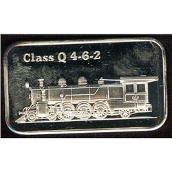VINTAGE TRAIN 1oz SILVER ART BAR - Class Q 4-6-2