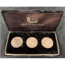 Alexander Graham Bell Centennial Silver Medal Set of 3