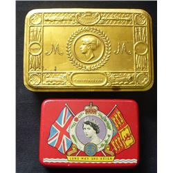 Princess Mary 1914 Christmas Tin & Elizabeth Coronation Tin