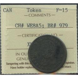 Wellington Lower Canada ½ Penny Token, Br 979. Scarce