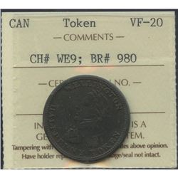 Wellington Lower Canada ½ Penny Token, Br 980.