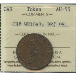 Wellington Lower Canada ½ Penny Token, 1816. Br 981
