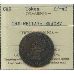 Wellington Lower Canada ½ Penny Token (c.1812) Br 987